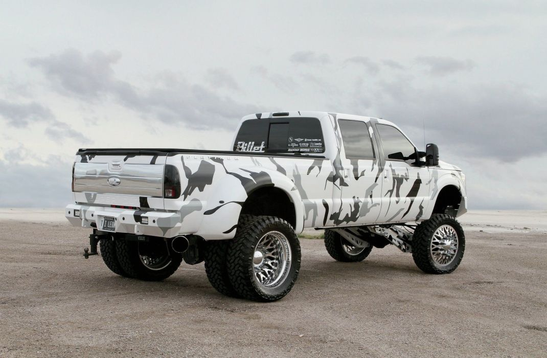 2015 Ford F-350 Platinum 4x4 pickup custom dual dualie f350 wallpaper