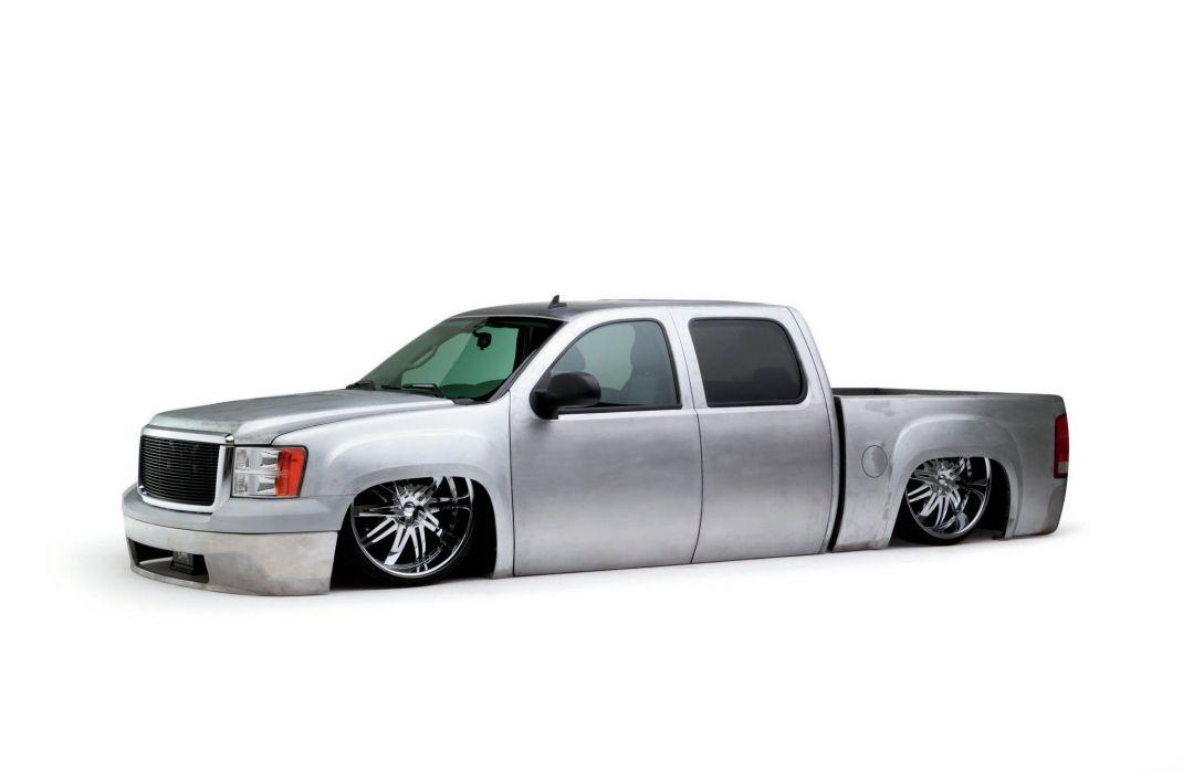 2008 GMC Sierra custom hot rod rods pickup lowrider wallpaper