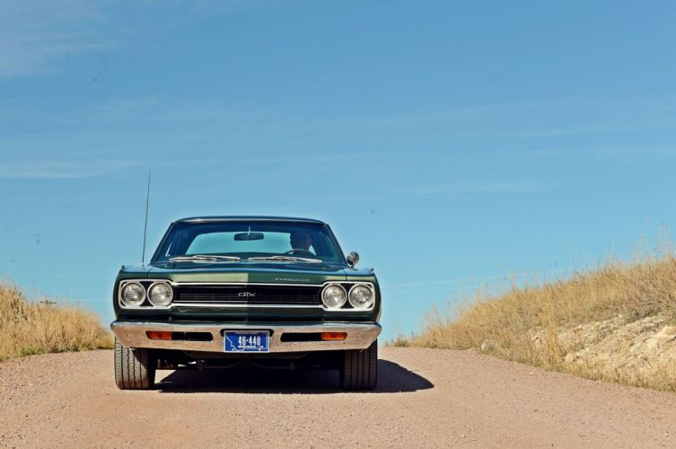 1968 Plymouth GTX mopar muscle classic wallpaper