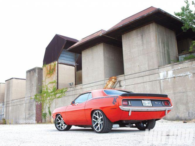 1971 Plymouth Barracuda mopar muscle hot rod rods custom cuda wallpaper