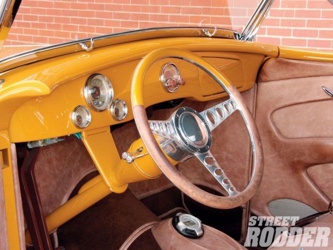 1936 Ford Roadster custom hot rod rods retro vintage wallpaper