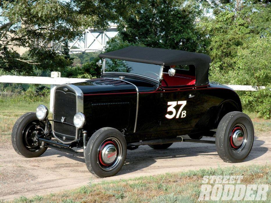 1931 Ford Highboy Roadster hot rod rods custom retro vintage salt race racing wallpaper