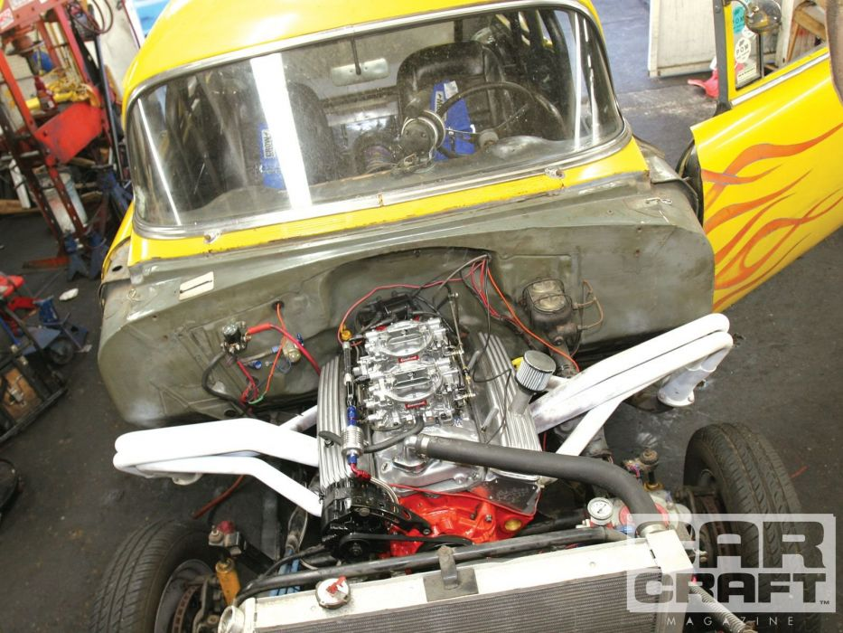 1955 Chevy Gasser drag race racing hot rod rods retro custom wallpaper