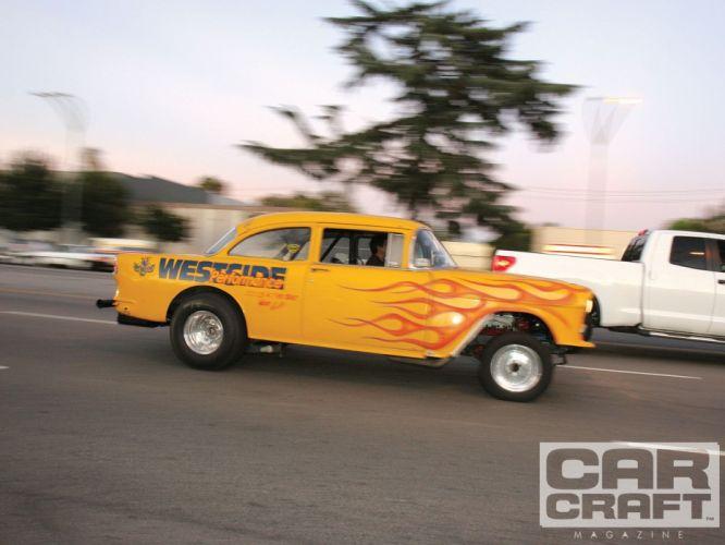 1955 Chevy Gasser drag race racing hot rod rods retro custom wallpaper
