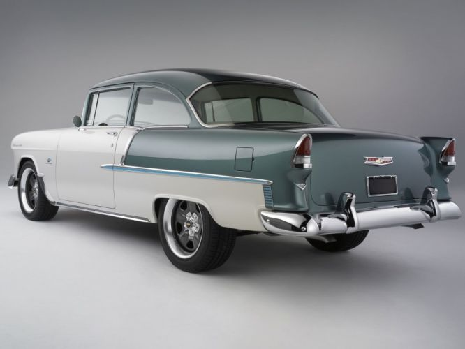 E-ROD 1955 Chevrolet hot rod rods custom retro wallpaper