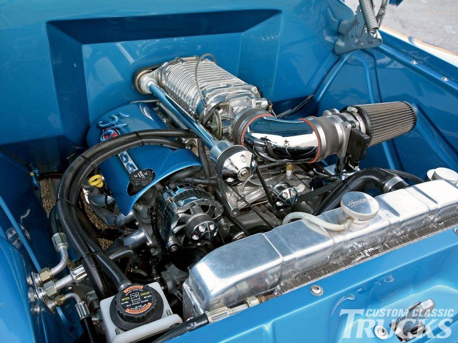 1956 Chevrolet Pickup hot rod rods custom retro wallpaper