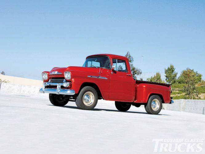 1958 Chevrolet Apache Pickup custom retro hot rod rods wallpaper