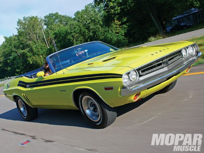 1971 Dodge Challenger mopar muscle convertible classic 440ci wallpaper