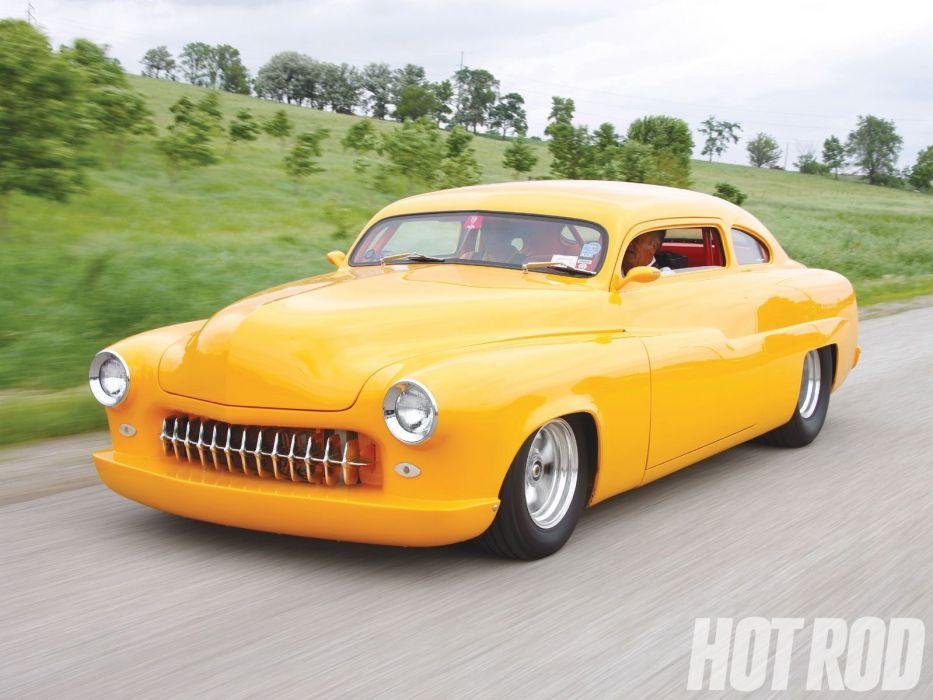 1951 Mercury Coupe custom hot rod rods retro wallpaper