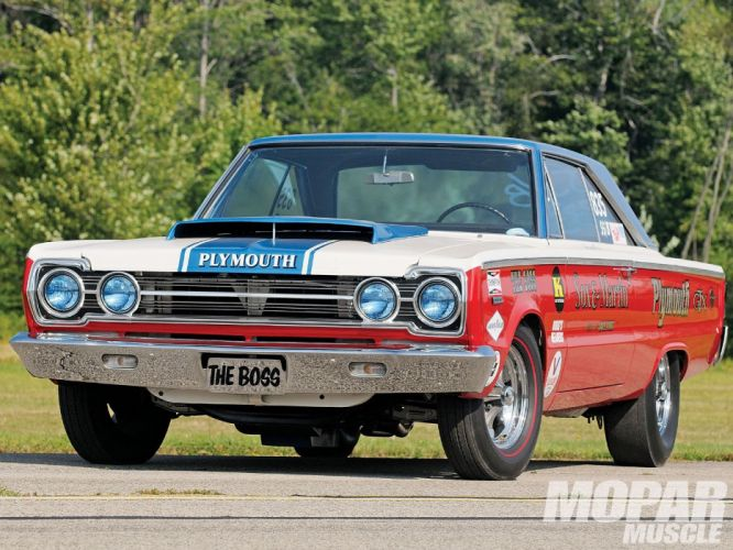 1967 Plmouth Belvedere 1968 Barracuda BO29 drag racing race hot rod rods muscle classic wallpaper