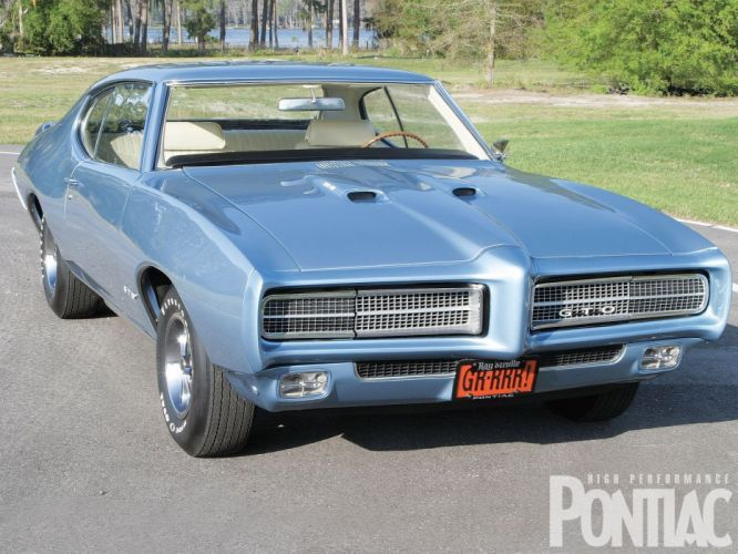 1969 Pontiac GTO muscle classic wallpaper