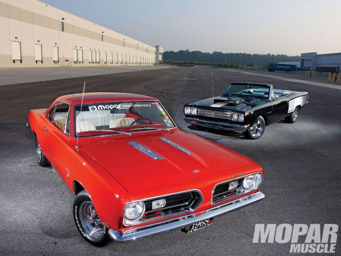1968 Plymouth Barracuda Formula S Notchback 1969 Sport Satellite muscle classic hot rod rods mopar wallpaper