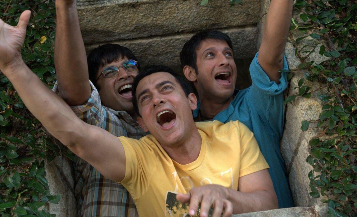 movie bollywood aamir sharman and madhavan in 3 idiots guys male wallpaper