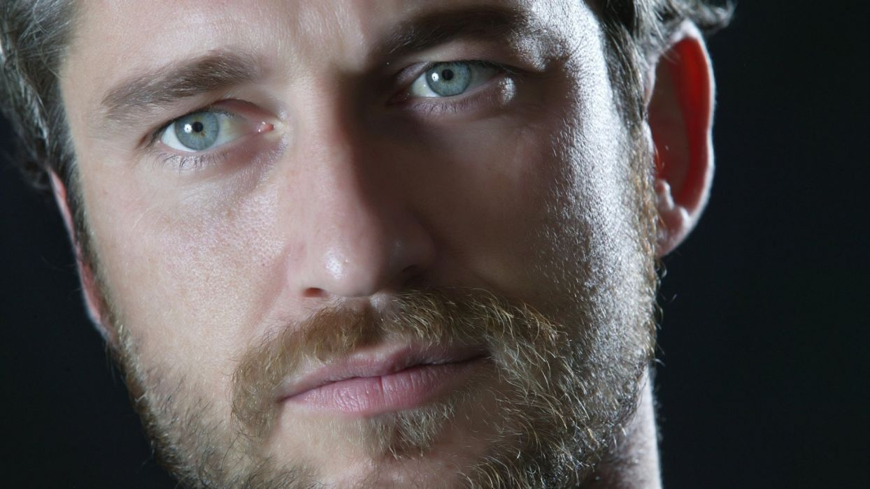 Butler Gerard actor male man blue eyes wallpaper