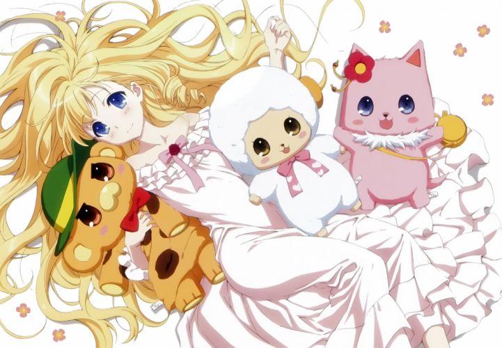 anime series characters dress girl amagi brilliant park cute blonde wallpaper