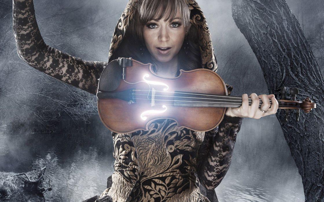 female violin music LA wallpaper