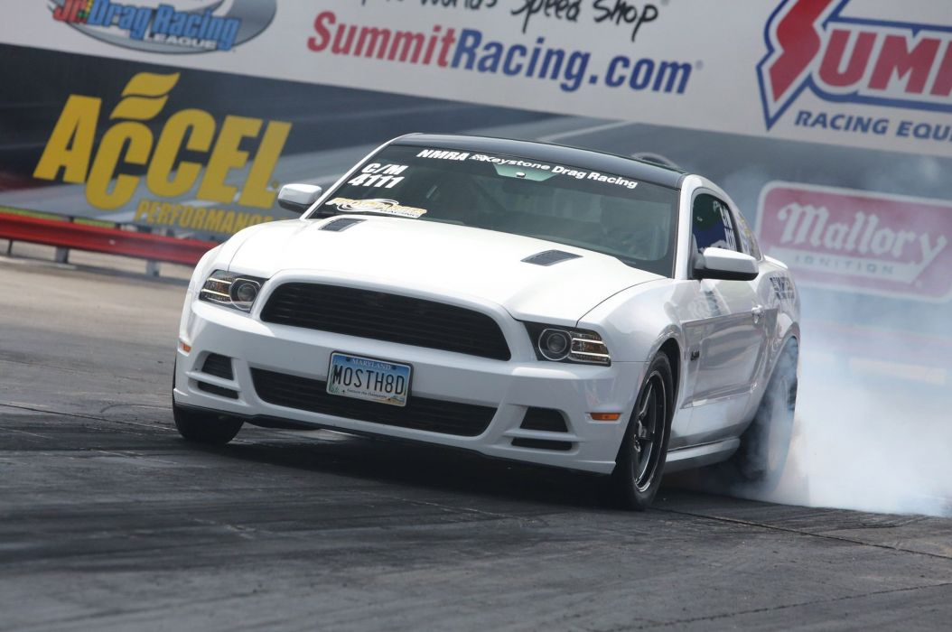 2014 Ford Mustang G-T drag race racing hot rod rods muscle custom wallpaper