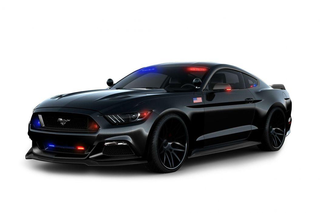 2016 Ford Mustang Police Interceptor emergency muscle wallpaper