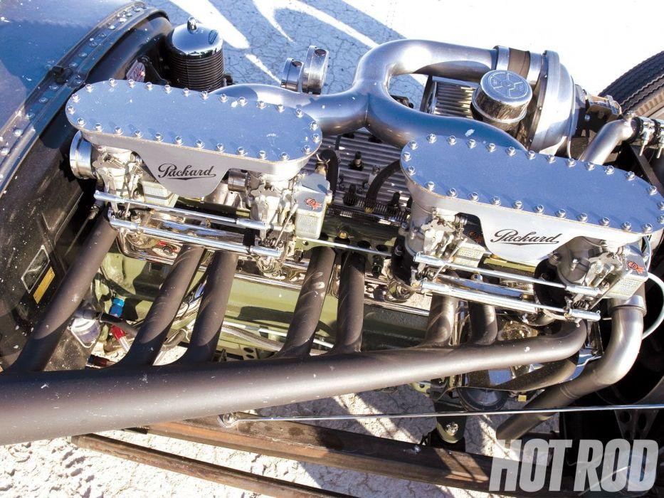 Packard Straight-Eight Roadster race racing rat hot rod rods custom retro vintage wallpaper