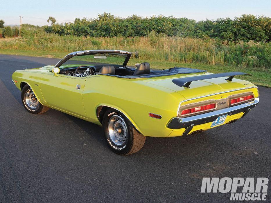 1971 Dodge Challenger mopar muscle convertible classic wallpaper