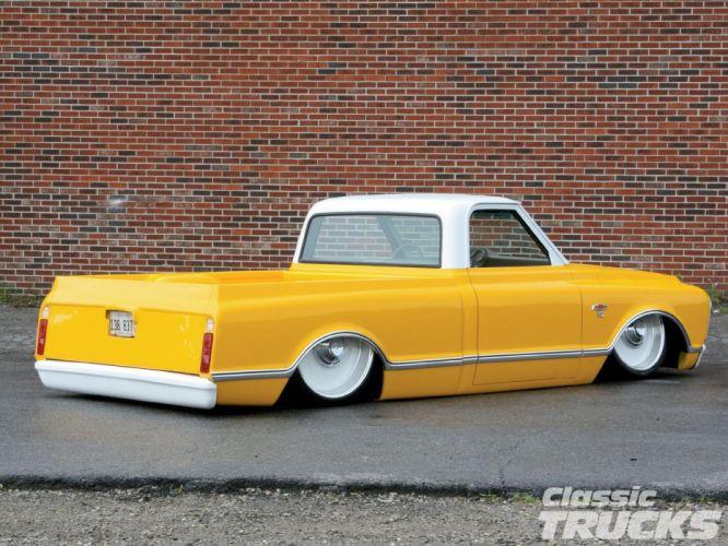 1968 Chevy C-10 Pickup custom hot rod rods lowrider c10 classic wallpaper
