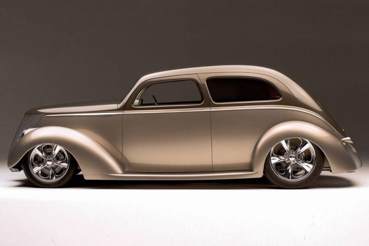 1937 Ford custom hot rod rods custom retro vintage wallpaper