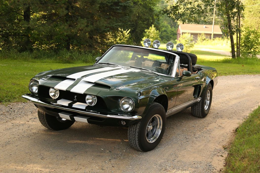 1968 Shelby GT350 ford mustang custom muscle hot rod rods convertible race racing wallpaper