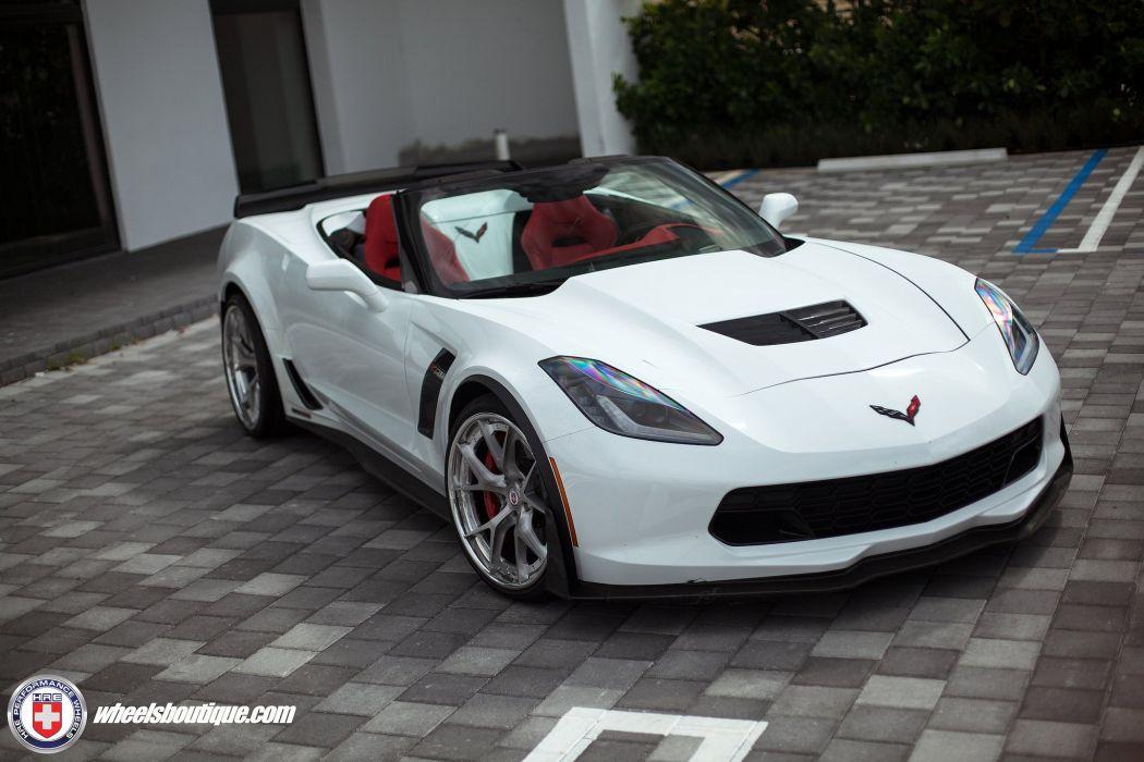 Chevy Corvette cabriolet Z06 white HRE wheels supercars cars wallpaper