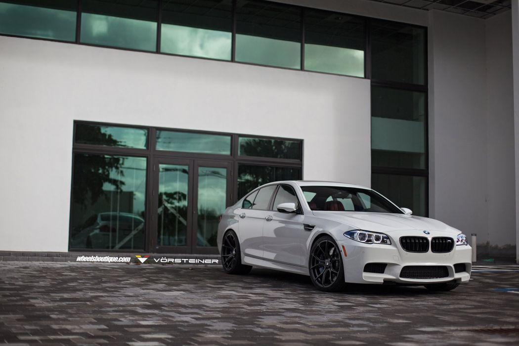 BMW F10 M5 white HRE wheels sedan cars wallpaper