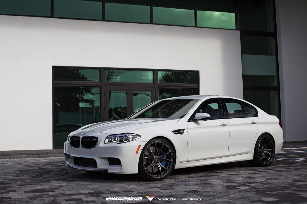 BMW F10 M5 white HRE wheels sedan cars wallpaper