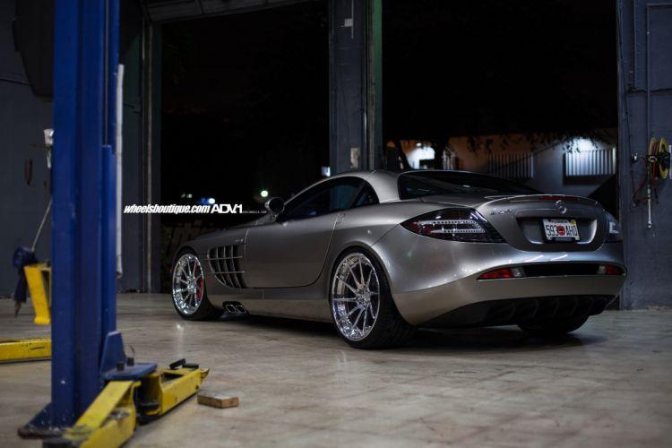 Mercedes Benz SLR McLaren HRE wheels coupe cars wallpaper