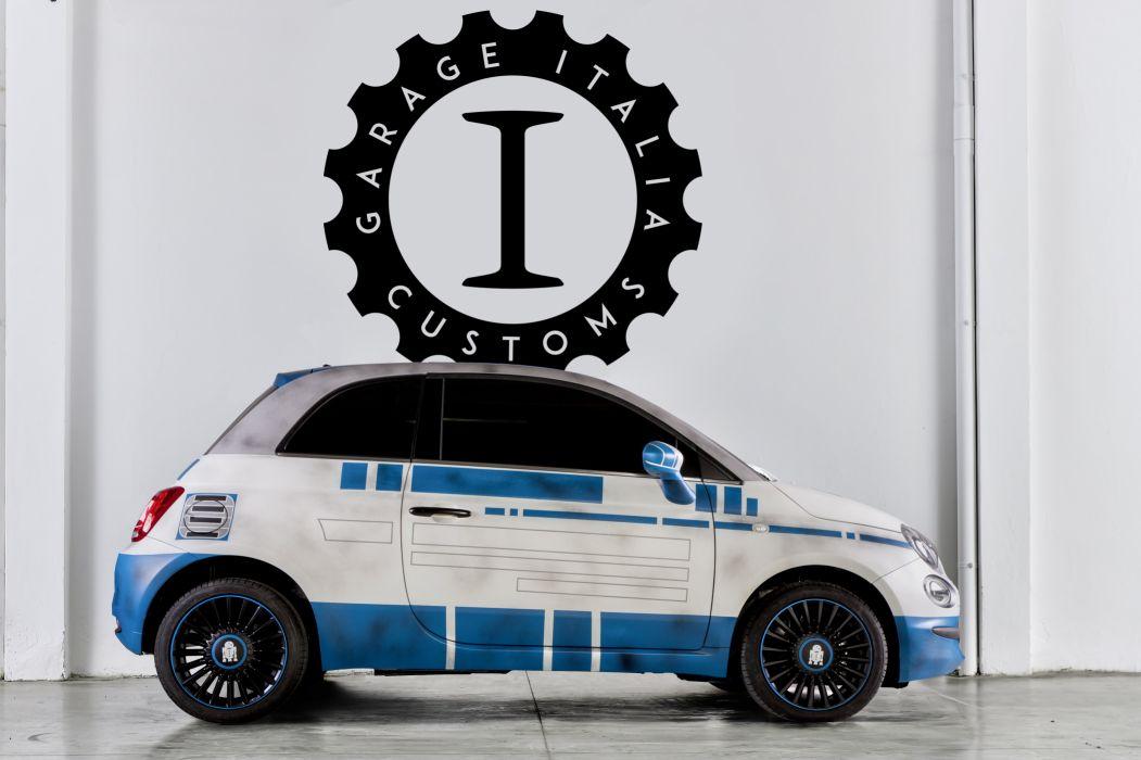 2016 Fiat 500 R2D2 312 star wars force awakens sci-fi concept robot wallpaper