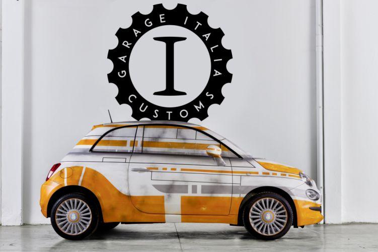 2016 Fiat 500 BB-8 312 star wars force awakens robot sci-fi custom wallpaper