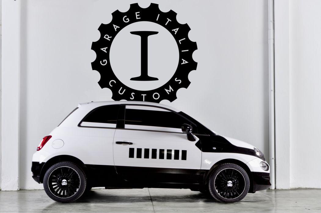 2016 Fiat 500 stormtrooper 312 star wars force awakens custom sci-fi wallpaper