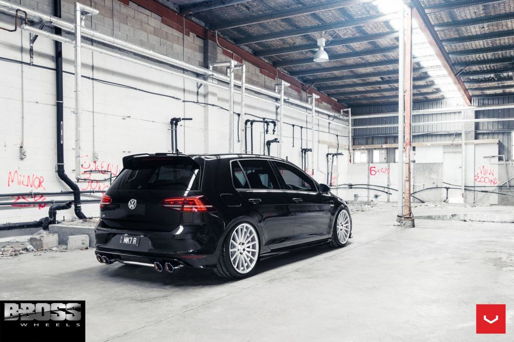 Volkswagen GTI vossen wheels sedan cars wallpaper