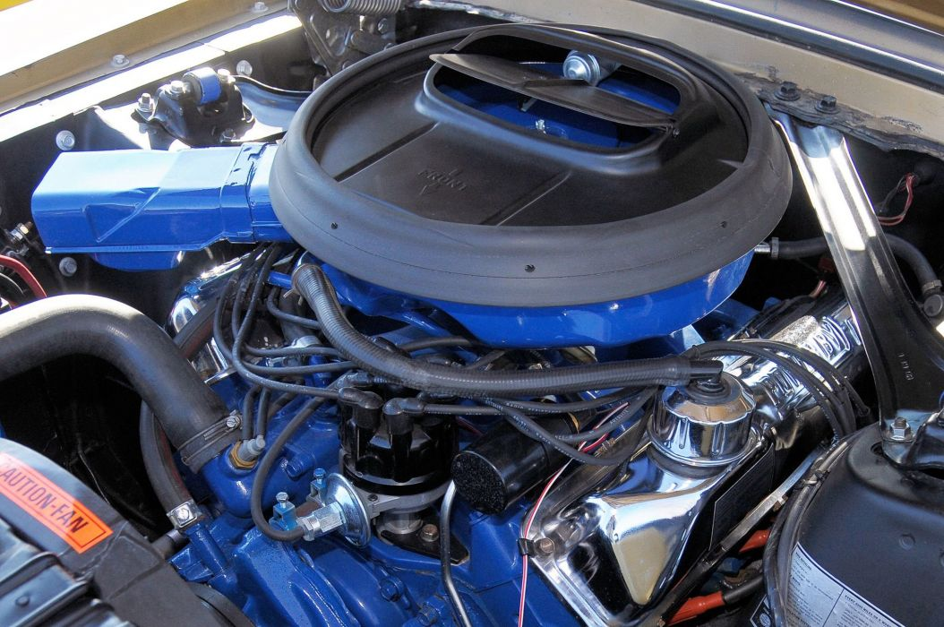 Ford Mustang classic muscle engine wallpaper