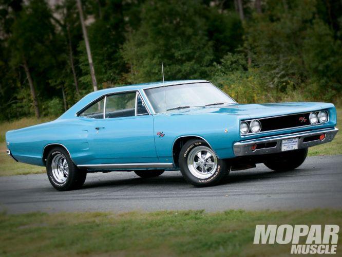 1968 Dodge Coronet R-T Hardtop muscle classic hot rod rods mopar wallpaper