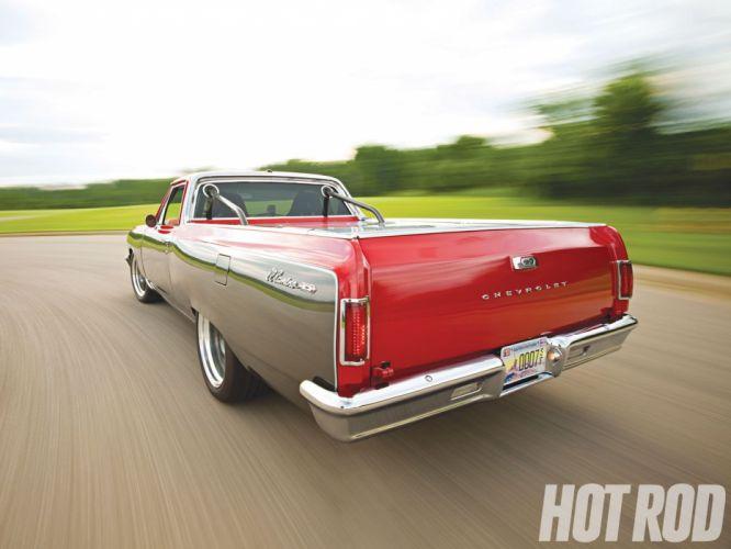1965 Chevy El-Camino pickup classic muscle camino custom hot rod rods wallpaper
