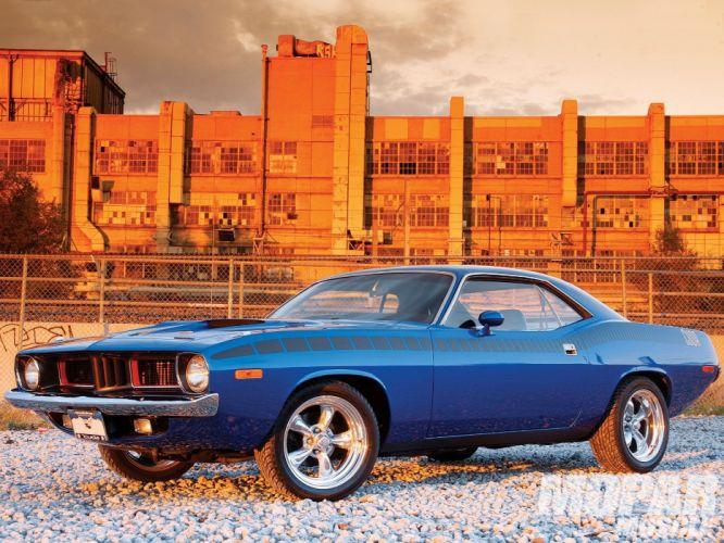 1973 Plymouth Cuda muscle classic hot rod rods mopar barraxuda wallpaper