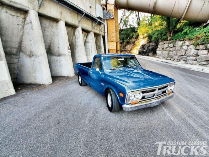 1968 GMC Longbed pickup classic custom hot rod rods wallpaper