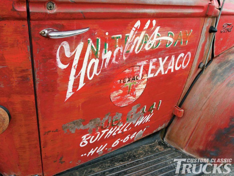 1946 Ford Texaco Service pickup xustom hot rod rods retro wallpaper
