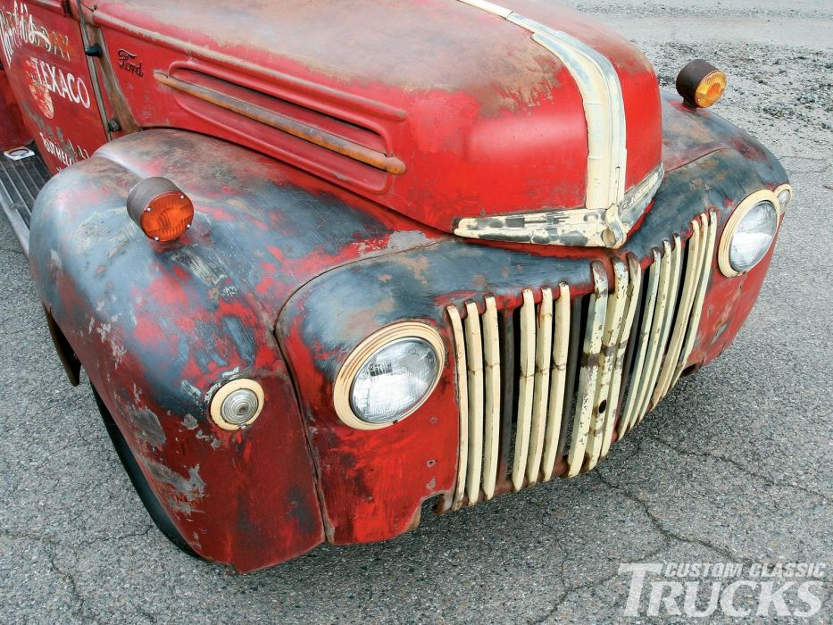 1946 Ford Texaco Service pickup xustom hot rod rods retro wallpaper