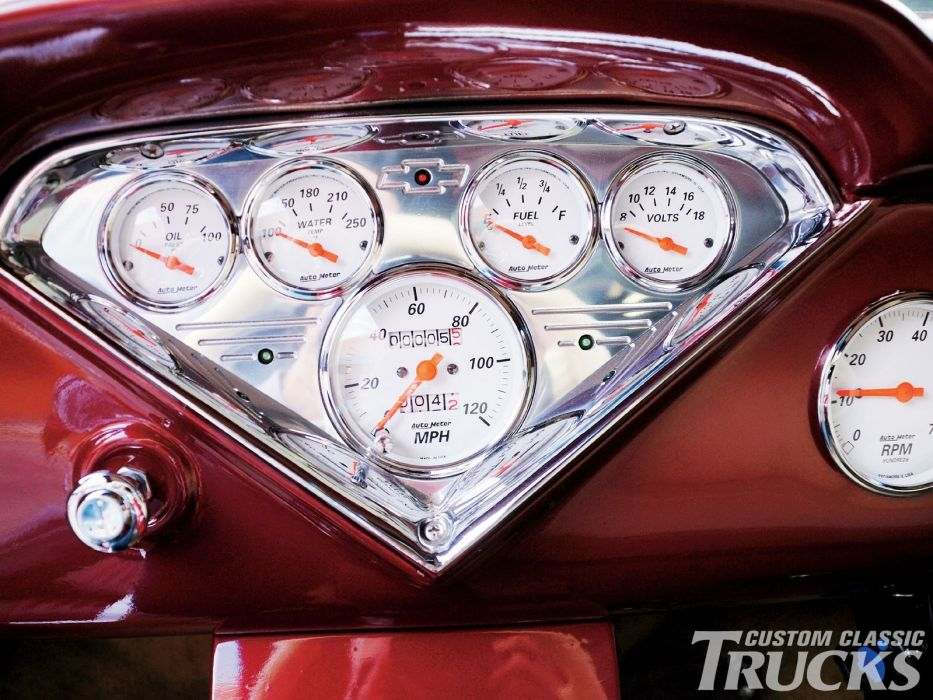 1956 Chevrolet Pickup custom hot rod rods retro wallpaper