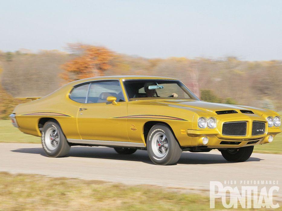 1971 Pontiac Judge GTO muscle classic wallpaper
