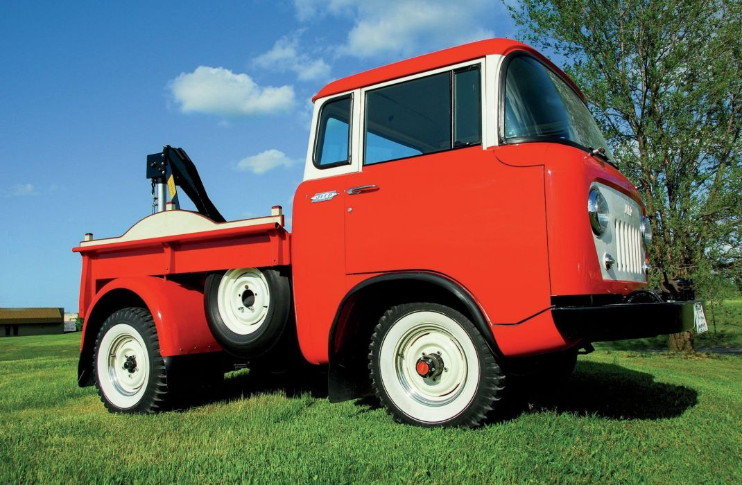 1957 Jeep FC150 Towtruck classic 4x4 tow emergency wallpaper