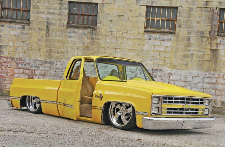 1981 Chevrolet C10 pickup custom hot rod rods lowrider wallpaper