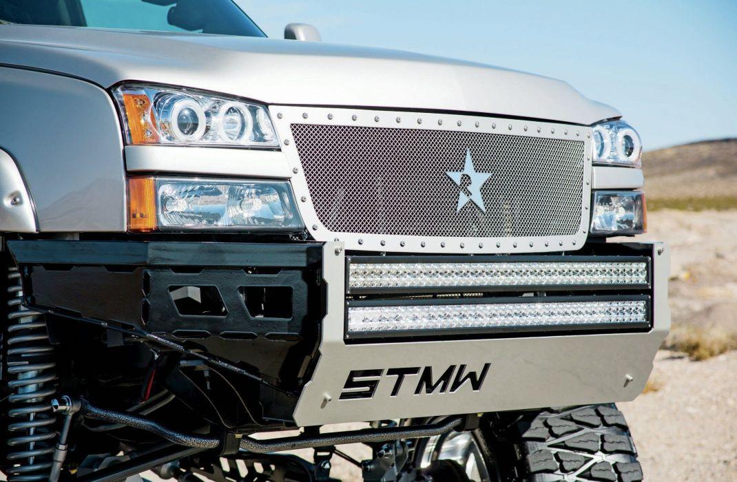 2007 Chevrolet Silverado 2500 pickup custom 4x4 tuning hot rod rods wallpaper