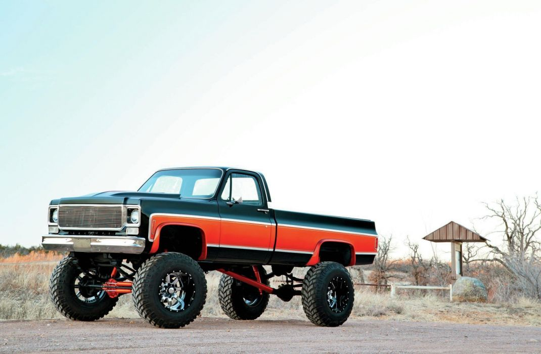 1975 Chevrolet C K10 pickup 4x4 custom tuning hot rod rods wallpaper