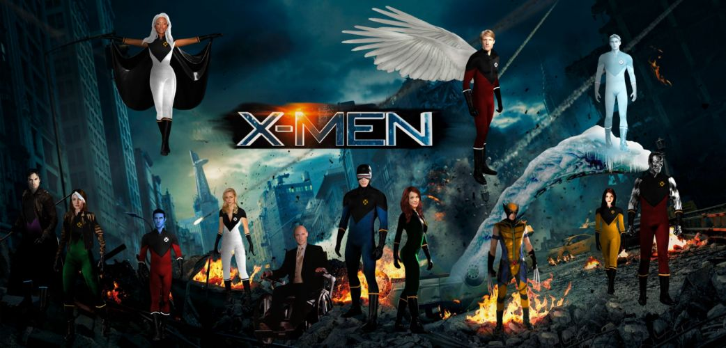 X-MEN superhero marvel action adventure sci-fi warrior fantasy fighting hero xmen comics poster wallpaper