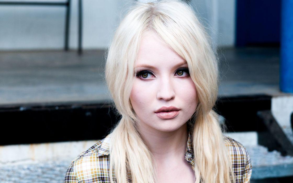 Emily Browning long hair girl female beautiful blonde wallpaper